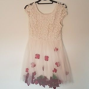 Deb Floral Dress with Fake Flowers